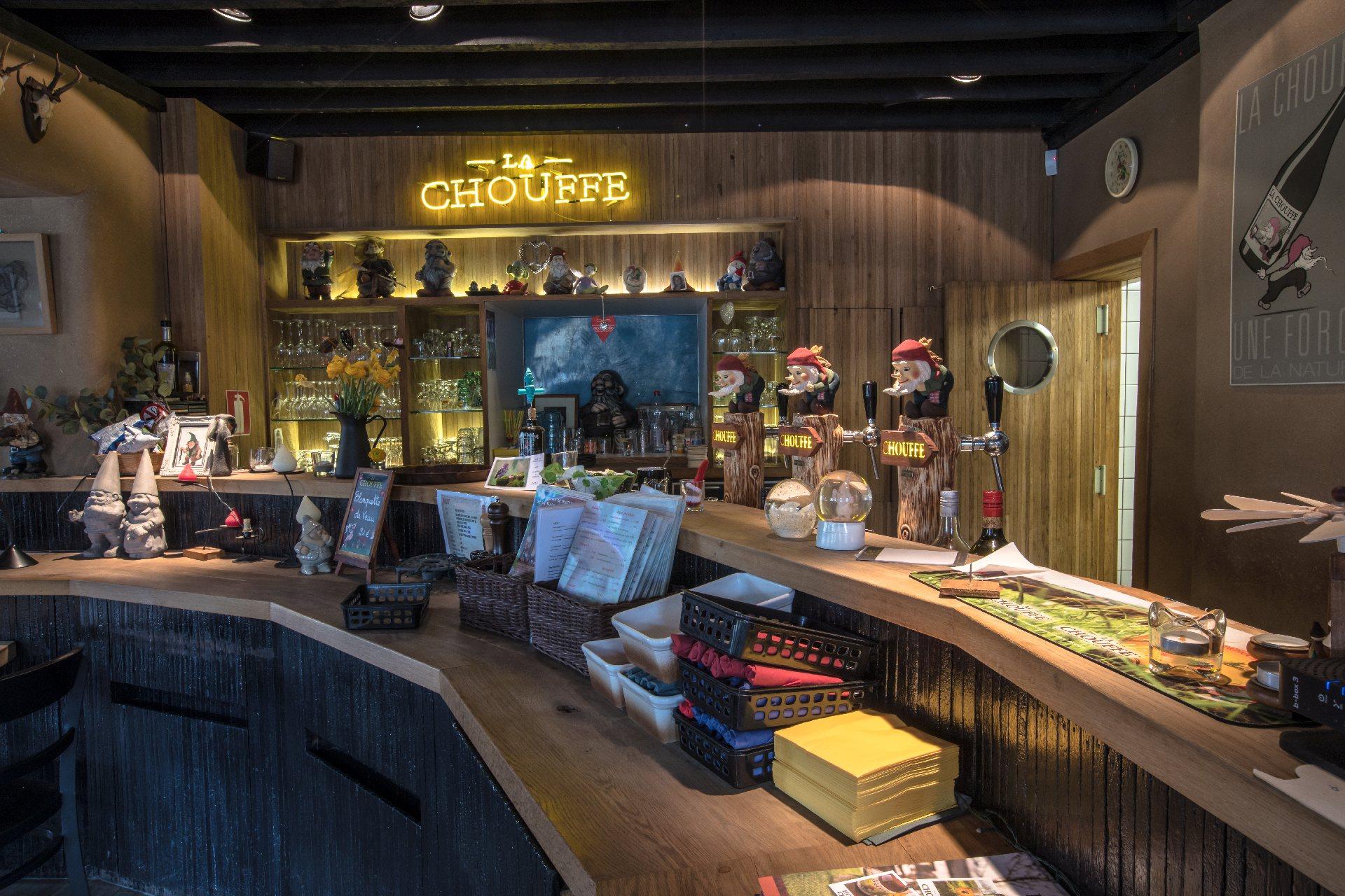 Salle de la taverne de la Brasserie d'Achouffe