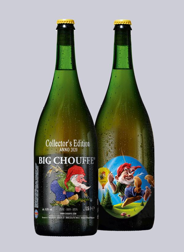 La bouteille de BIG CHOUFFE 2020, illustrée par Bram