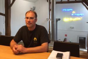 Eric, responsable de production à la Brasserie d'Achouffe