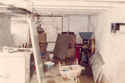 La Brasserie d'Achouffe en 1981, en construction